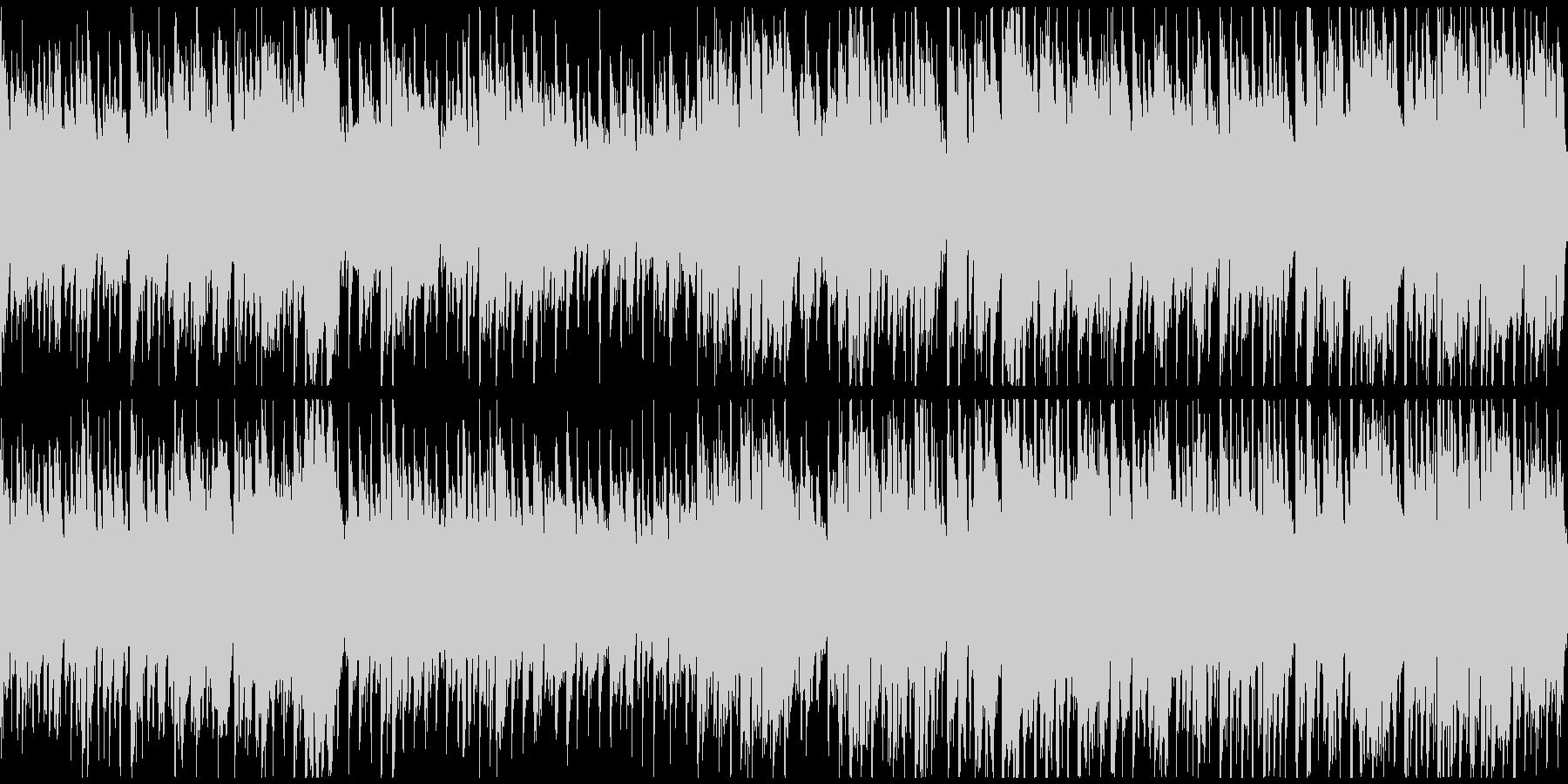 楽しく軽やかで弾むようなBGM※ループ版の未再生の波形