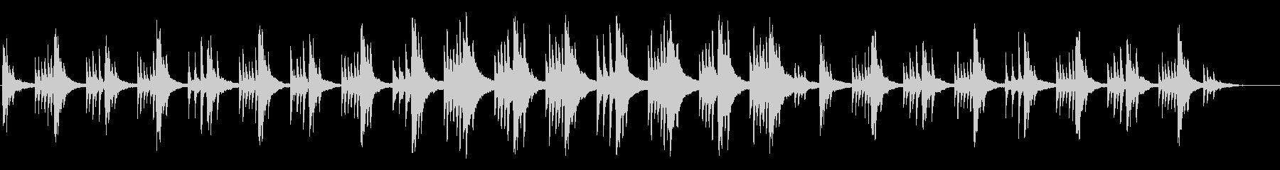 ジブリ風メロディーの幻想的なピアノ曲の未再生の波形