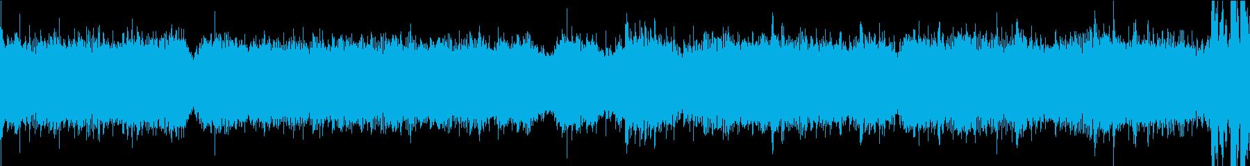 宇宙空間をイメージした近未来的なループ曲の再生済みの波形