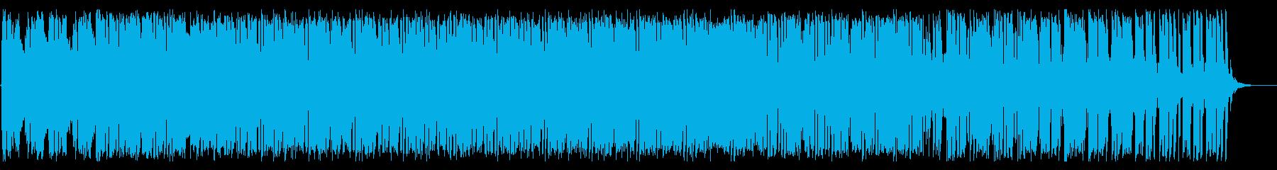 スピード感のあるクールなエレクトロニカの再生済みの波形