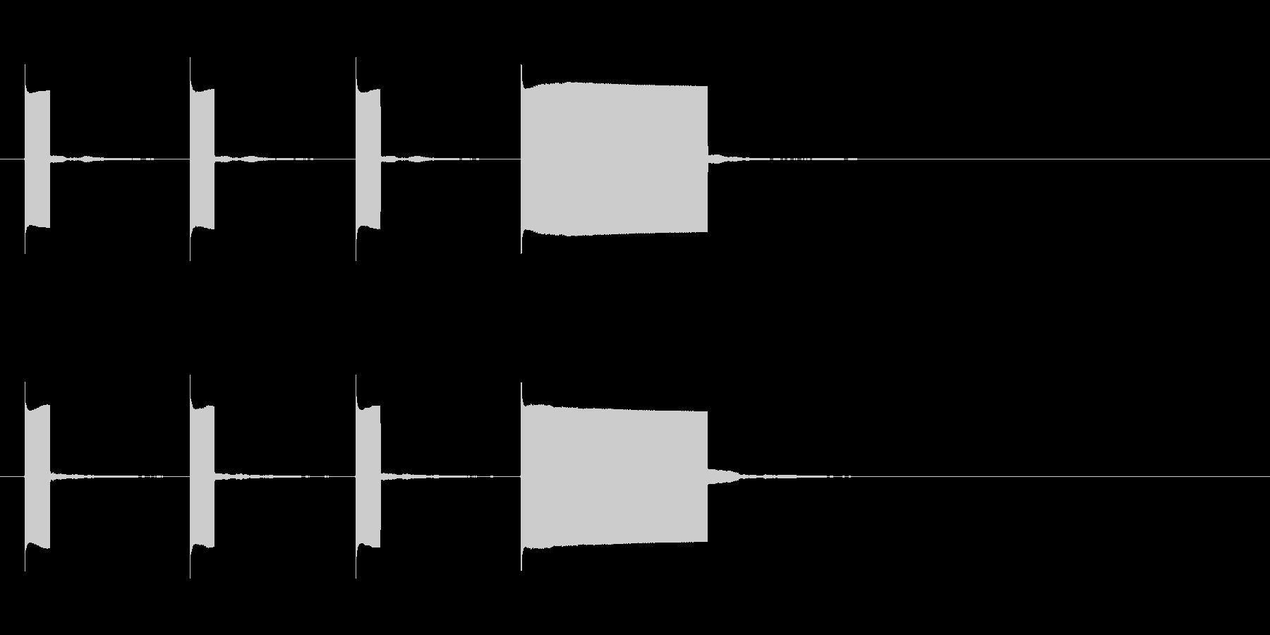 カウントダウン効果音keyCその1の未再生の波形