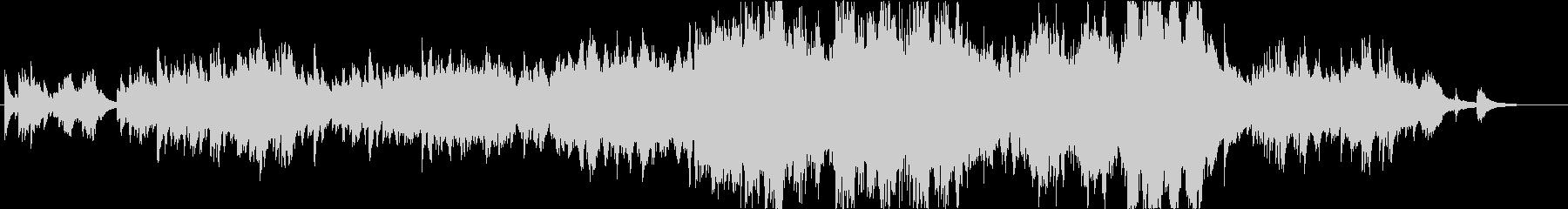ピアノ連弾とストリングスの曲の未再生の波形