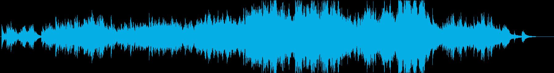 ピアノ連弾とストリングスの曲の再生済みの波形