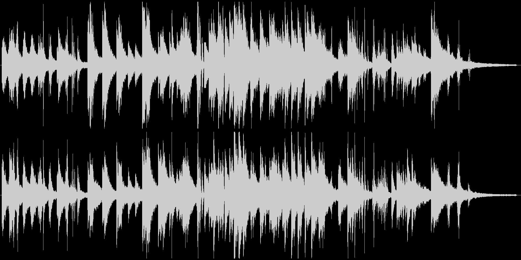 ジャジーでフリーな雰囲気のピアノソロの未再生の波形