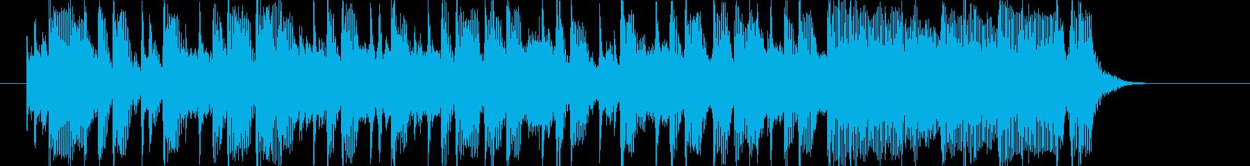 クールでポップなEDMサウンドの再生済みの波形