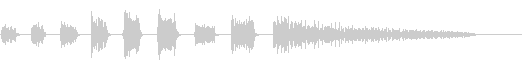 エレキギター:ショートアクセント、...の未再生の波形
