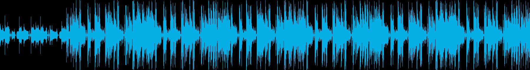 ポップでかわいく機械的なループBGMの再生済みの波形