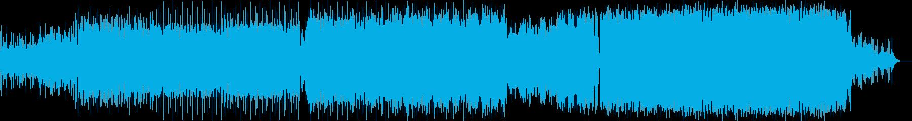 疾走感のあるビッグビートの再生済みの波形