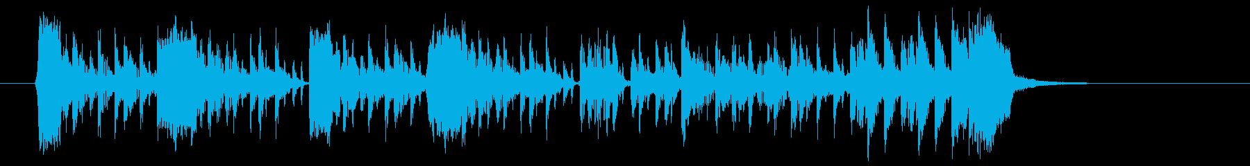 アップテンポのテクノロックの再生済みの波形