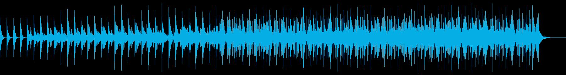 不規則なメロディーの幻想的な曲の再生済みの波形