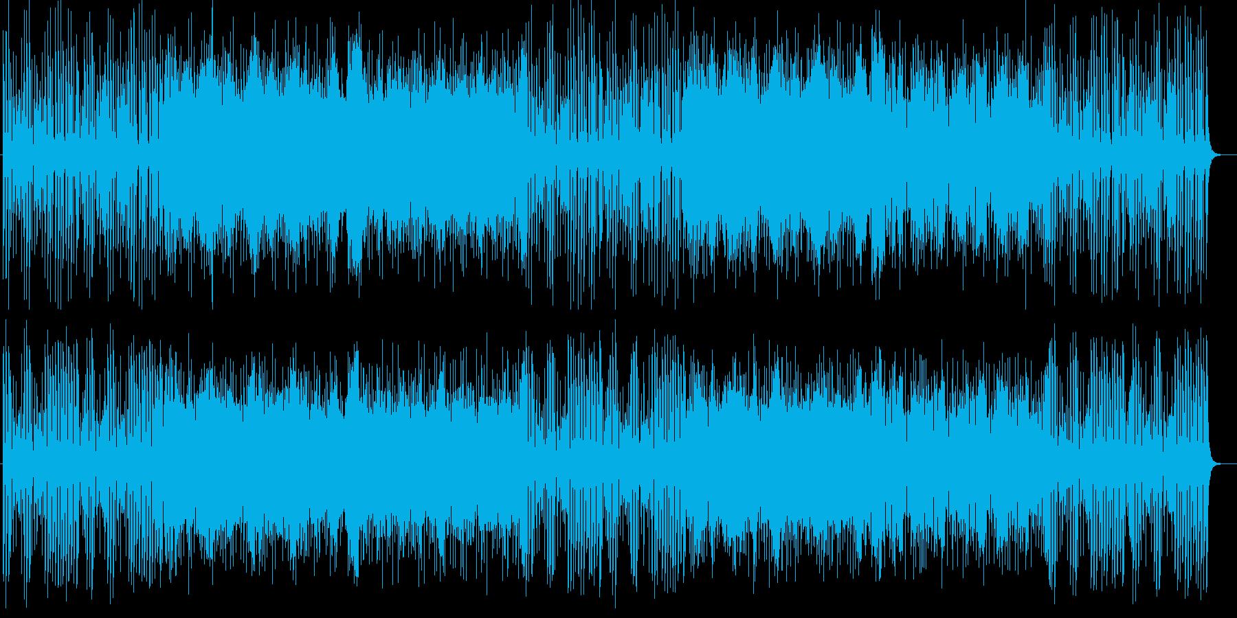 ドキドキと疾走感シンセサイザーサウンドの再生済みの波形