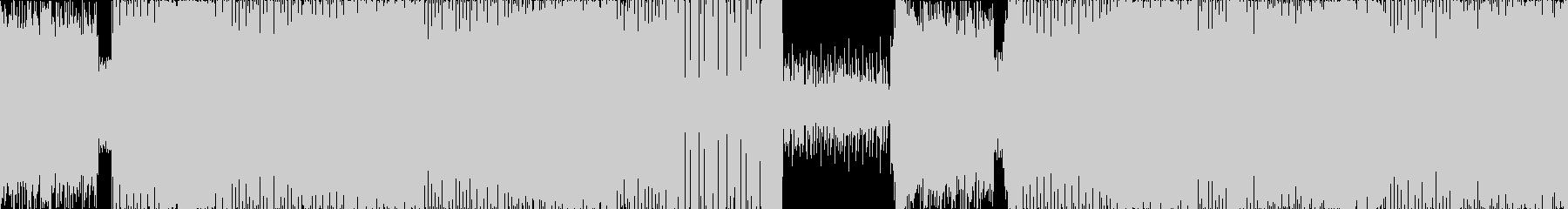 激しくカッコいいダークなエレクトロの未再生の波形