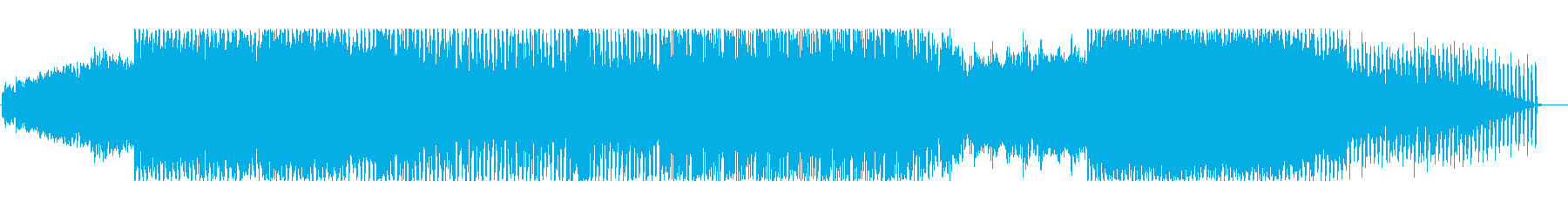 不安や深刻な感じのEDMの再生済みの波形