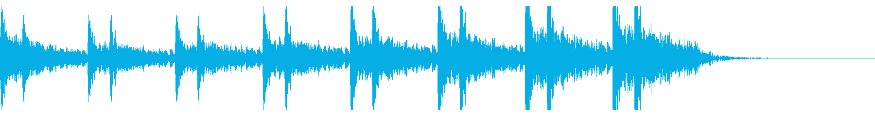 ドキドキと緊張感のあるドラムロールの再生済みの波形