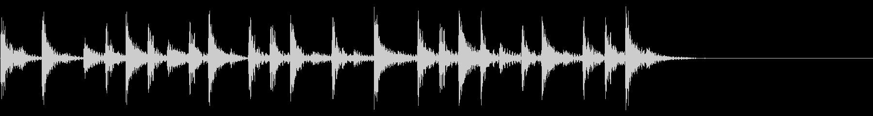 生ドラム_4小節8beatサンプリングの未再生の波形