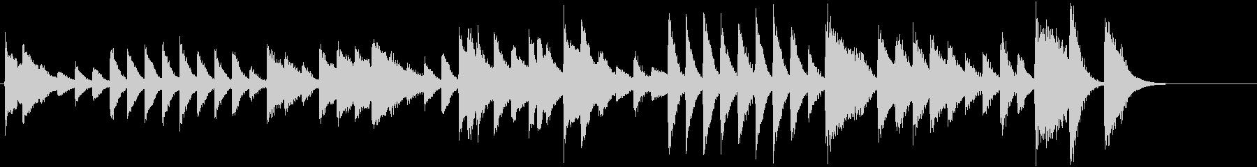 節分!鬼のパンツモチーフピアノジングルCの未再生の波形