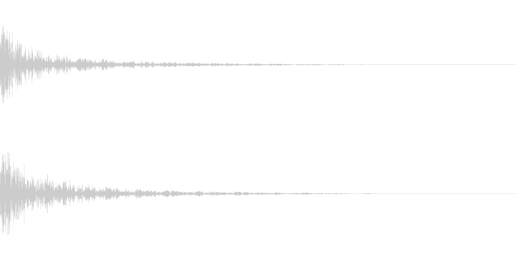 ドーン-36-1(インパクト音)の未再生の波形