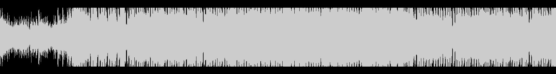 ピアノとブラスが響くハウスサウンドの未再生の波形