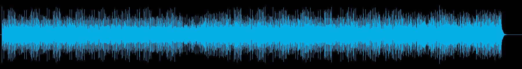電子音で構成されたゲームミュージックの再生済みの波形