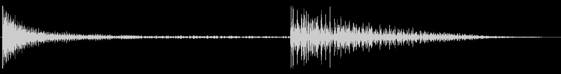 打楽器系のコミカルな残念音の未再生の波形
