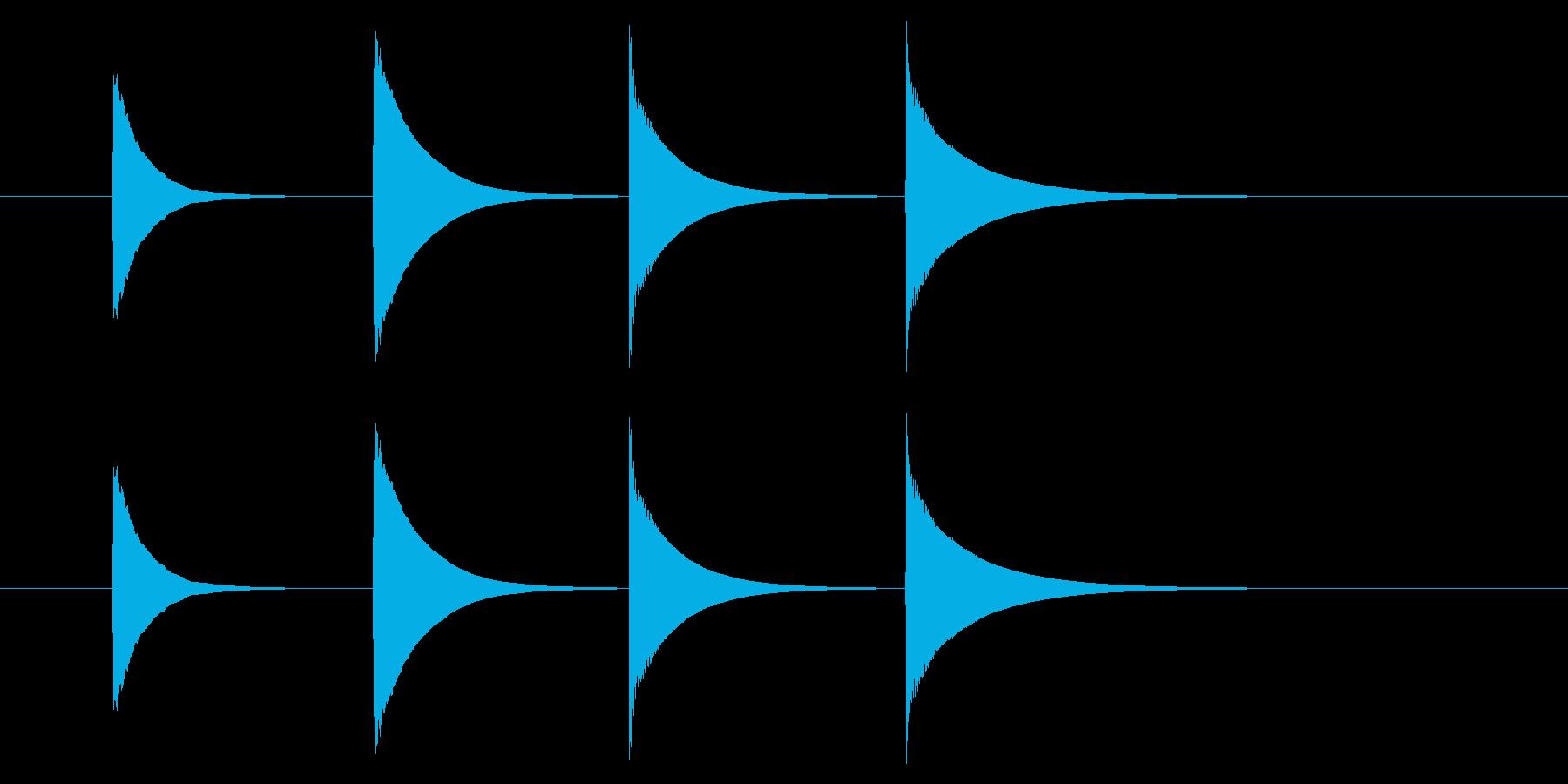 チャイム アナウンス08-2(4点 速いの再生済みの波形