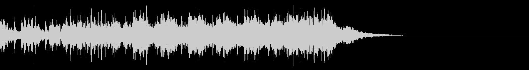 ジングル:優しいシンセストリングス15秒の未再生の波形
