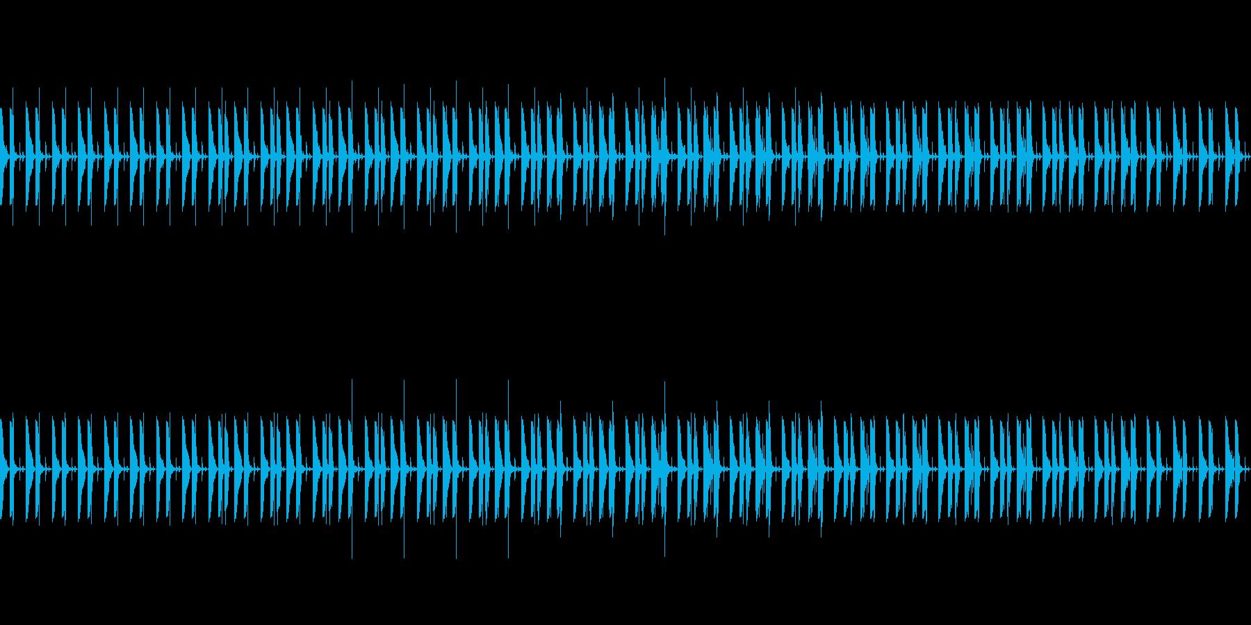 忍びこむドラムループ01の再生済みの波形