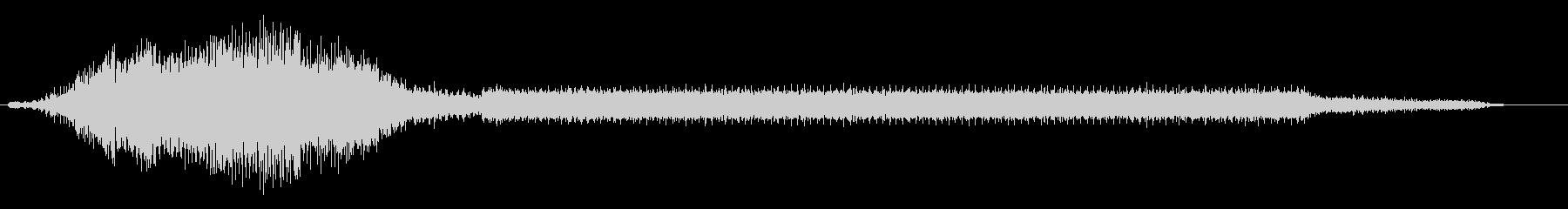 戦車がエンジンをかけ、停止させるまでの音の未再生の波形
