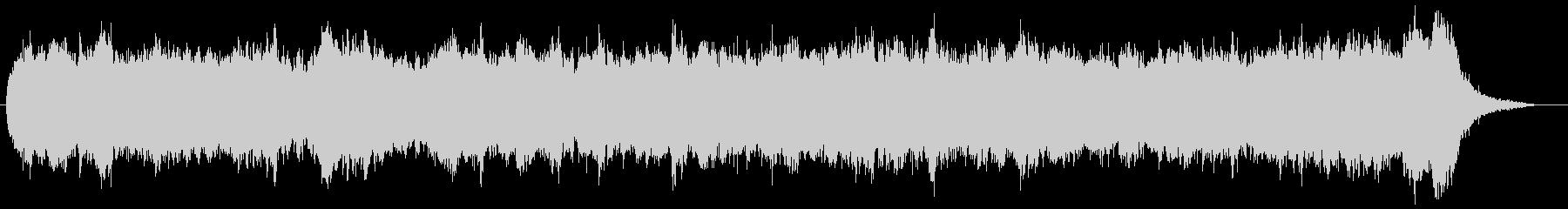 バッハ風三声のパイプオルガンオリジナルの未再生の波形