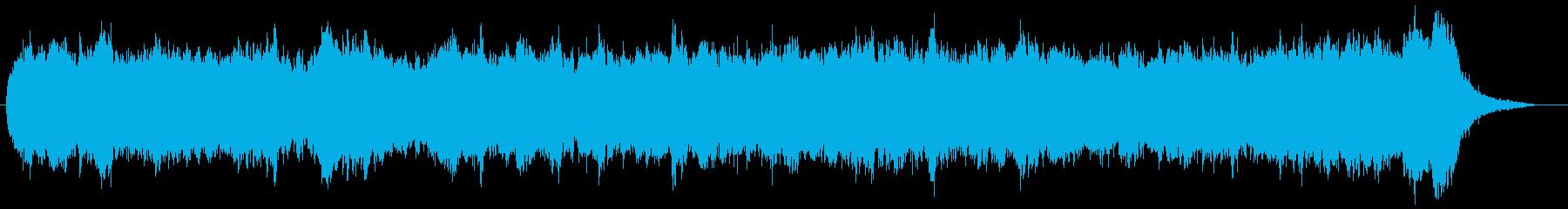 バッハ風三声のパイプオルガンオリジナルの再生済みの波形