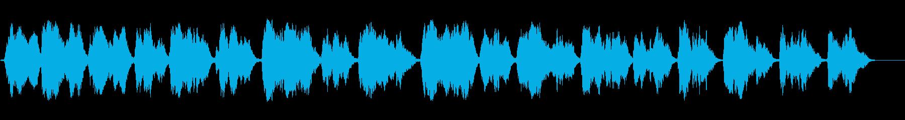 グレゴリオ聖歌Dies irae 斉唱の再生済みの波形
