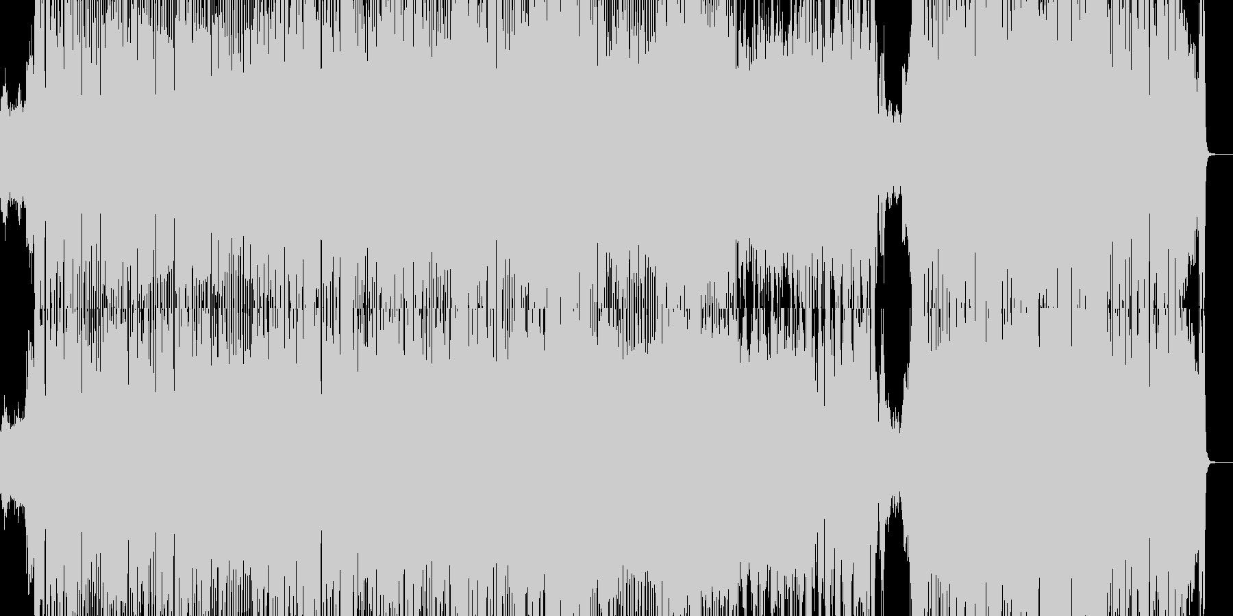 気分が晴れるポップな曲の未再生の波形