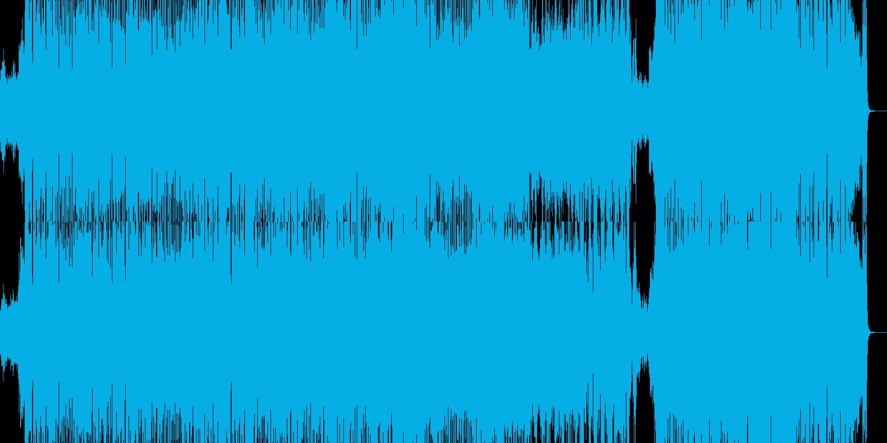気分が晴れるポップな曲の再生済みの波形