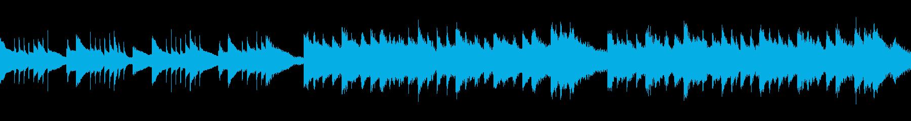 ハープを用いた悲しい/切ないBGMの再生済みの波形