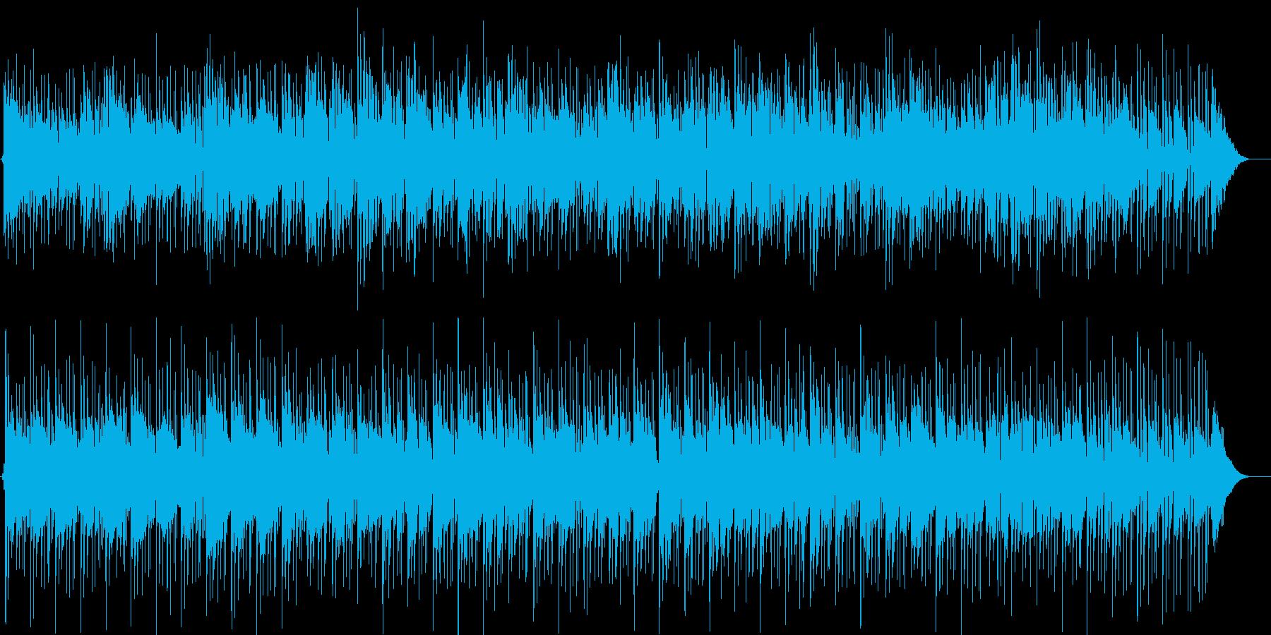 ギターと電子音の現代的なロックポップスの再生済みの波形