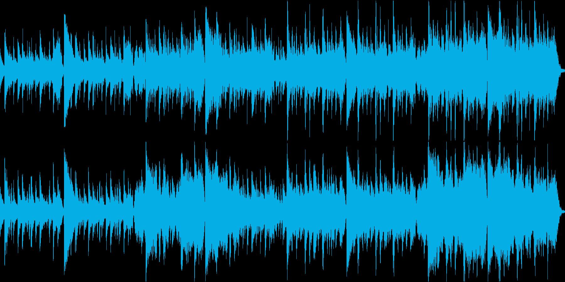 ストリングス系のホラーbgmループokの再生済みの波形
