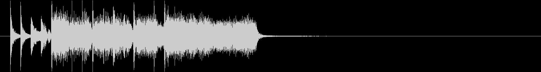 カートレースが始まるジングル03の未再生の波形