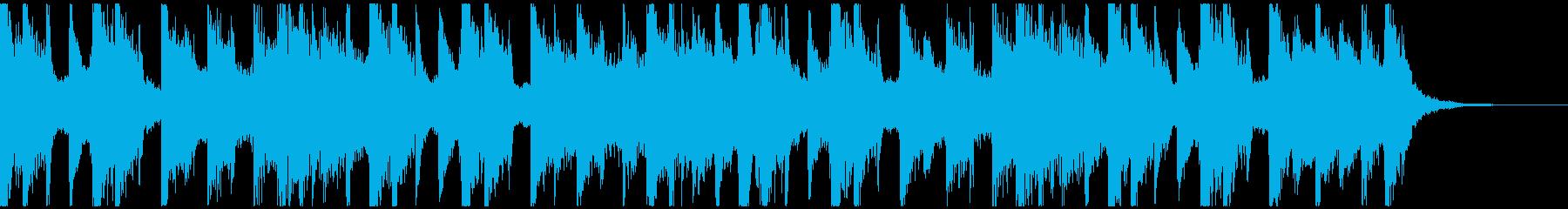 明るくコミカルでポップな雰囲気のBGMの再生済みの波形
