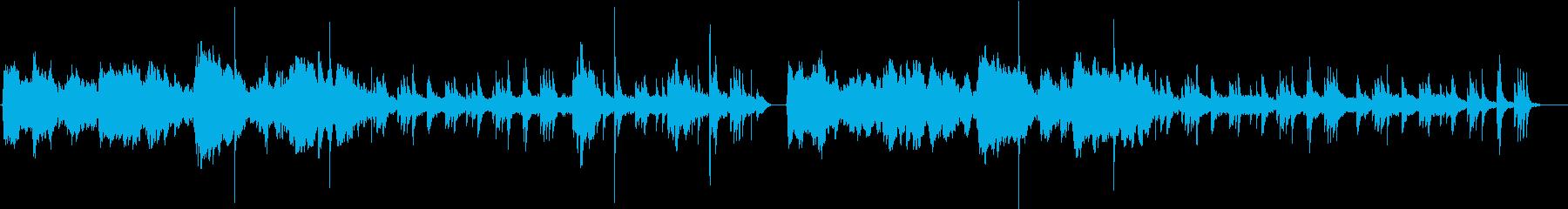 ドラマティックな雰囲気漂うヒーリング音楽の再生済みの波形