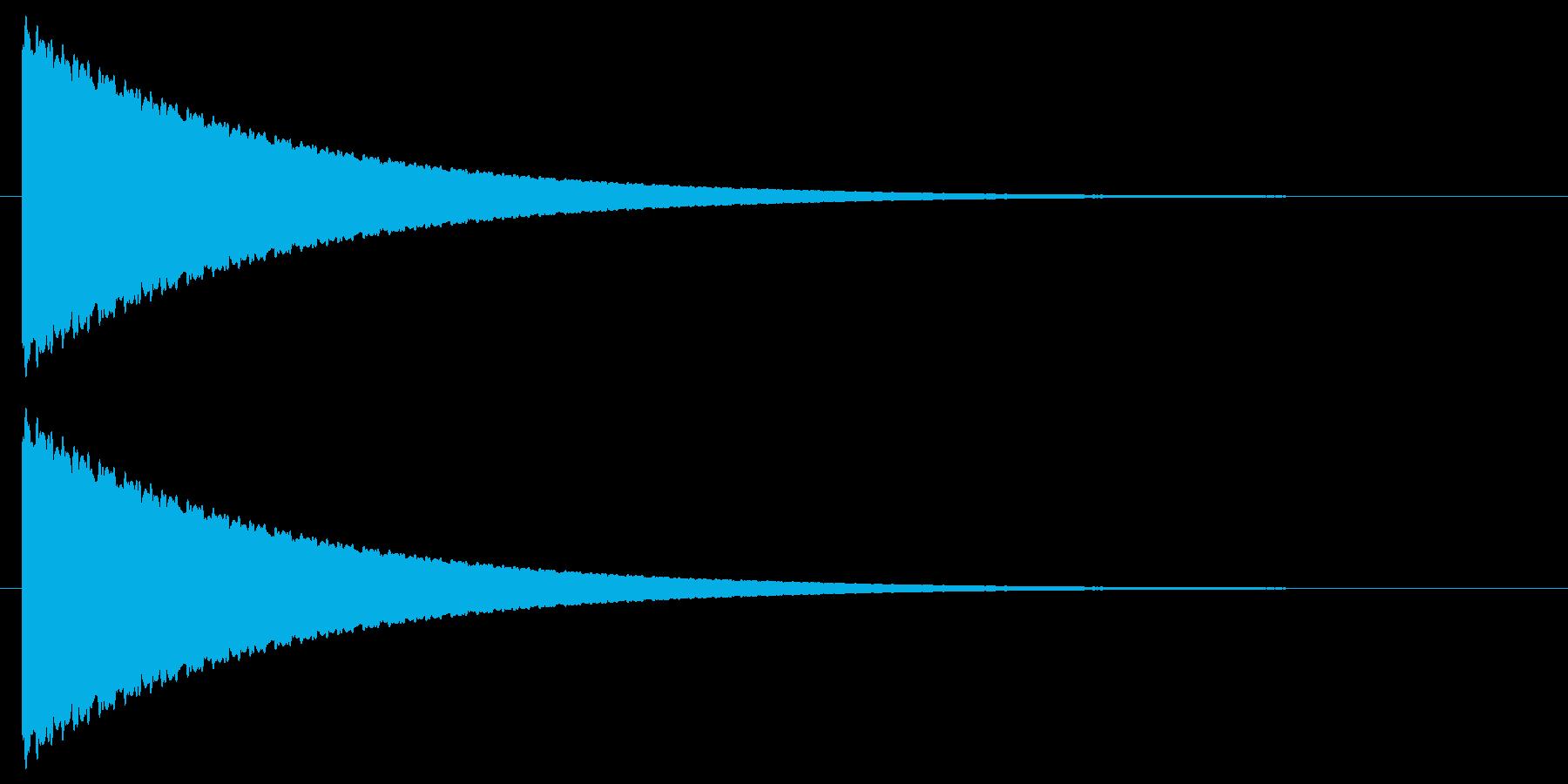 【効果音】擬音・キーン!の再生済みの波形