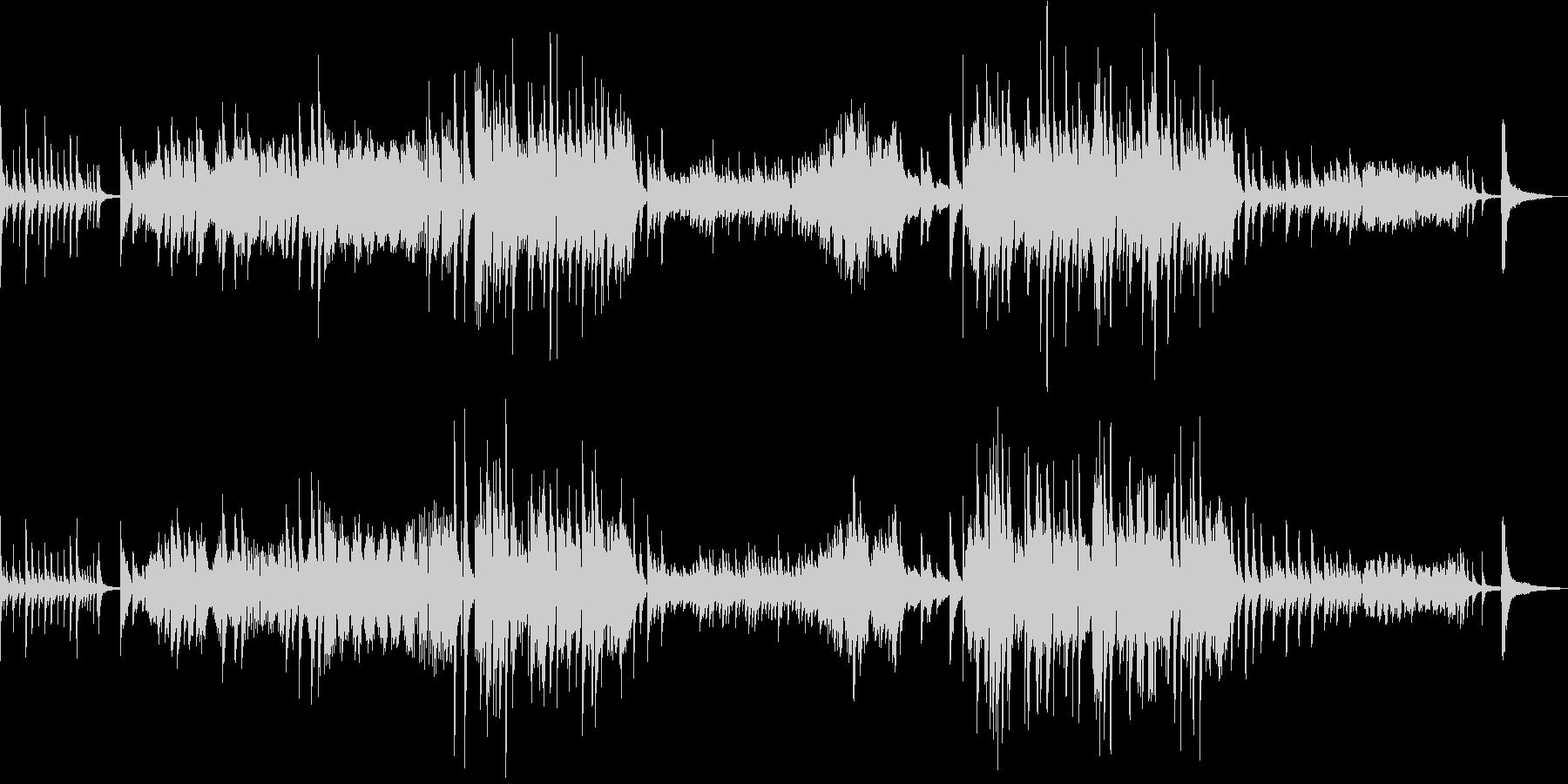 涙の場面をイメージしたピアノソロの未再生の波形