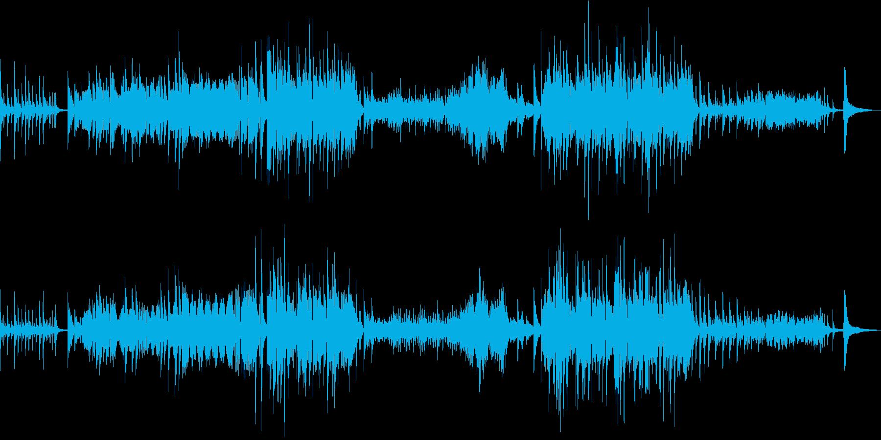 涙の場面をイメージしたピアノソロの再生済みの波形
