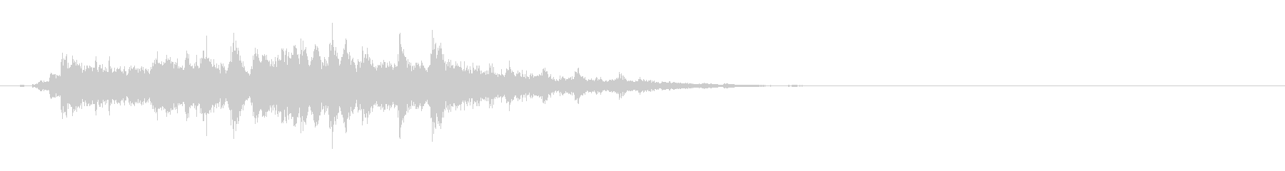 重めの鈴の音「えきろ」の単発音2+Fxの未再生の波形