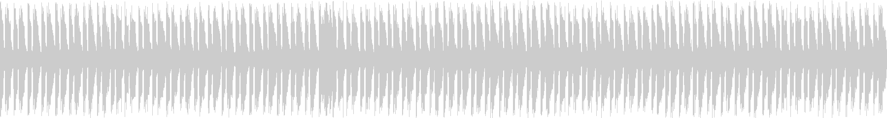 ギターとピアノの主張なしのループ曲の未再生の波形