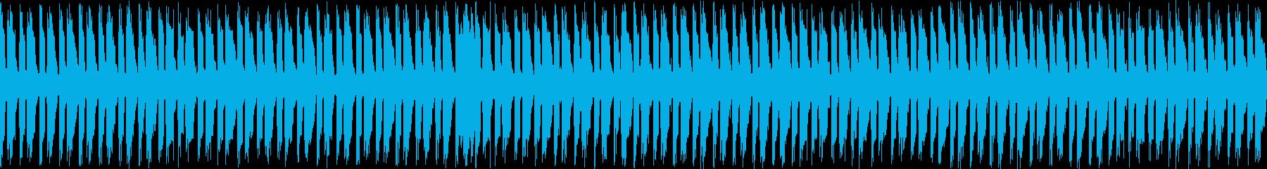 ギターとピアノの主張なしのループ曲の再生済みの波形