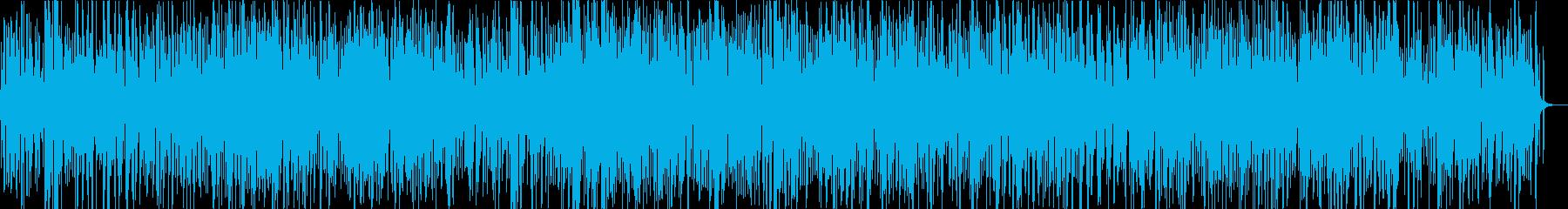 ほのぼのした雰囲気のジャズの再生済みの波形
