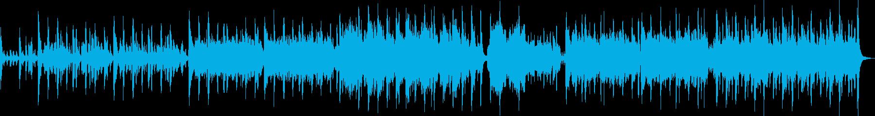 ヨーロッパ風アコーディオンワルツの再生済みの波形