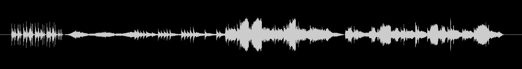 響きが特徴的で独特なメロディーの未再生の波形