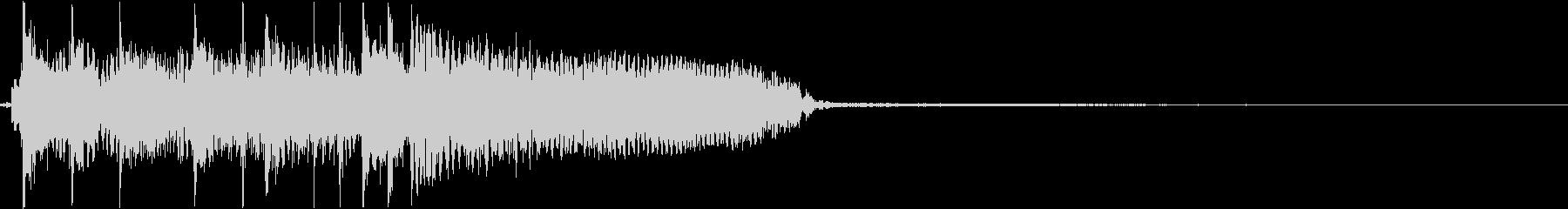 ハードロックギターリフのジングルの未再生の波形