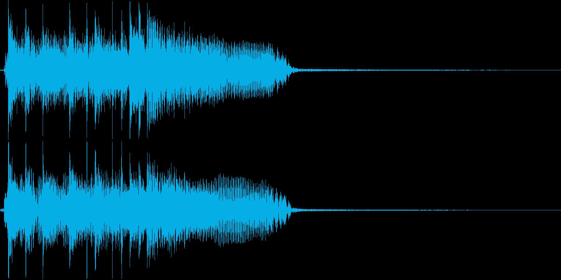 ハードロックギターリフのジングルの再生済みの波形